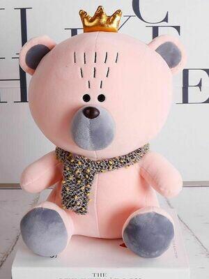Мягкая игрушка Медвежонок с короной 35см.