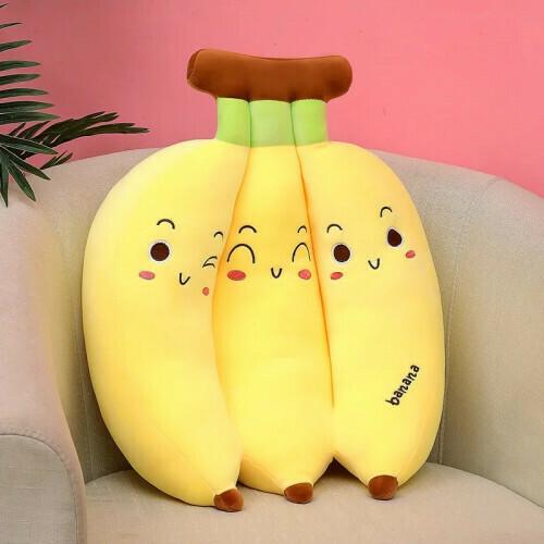 Мягкая игрушка -подушка ( связка бананов ) 45 см