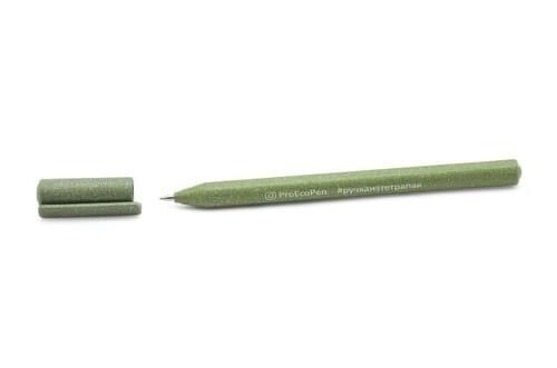 """Ручка шариковая """"ProEcoPen350"""" из вторсырья эко, оливковая"""