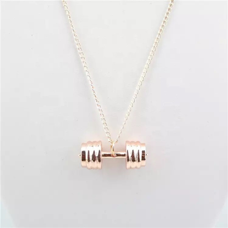 Rose Good Dumbbell Necklace