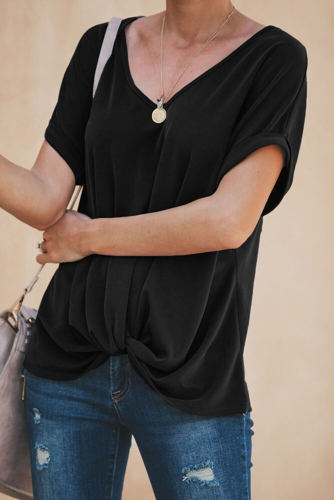 Black Twisted Tee