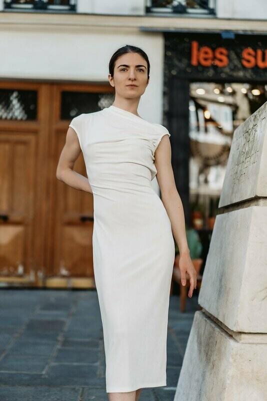 Tight-Cut Midi Dress