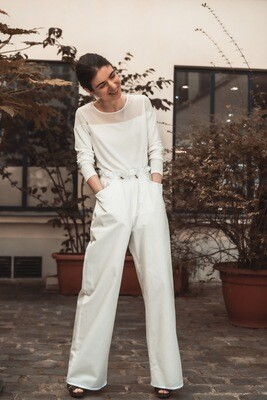 Wide-Pocket Straight-Leg Pants