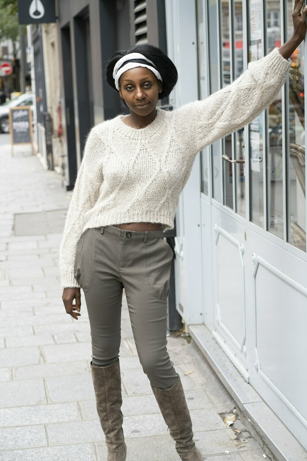 Cropped Tweed Sweater