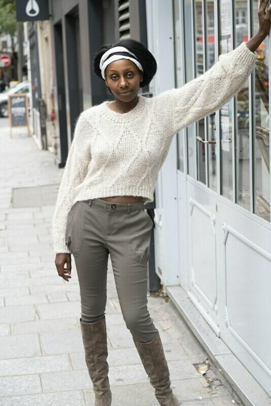 Cropped Tweed Sweater