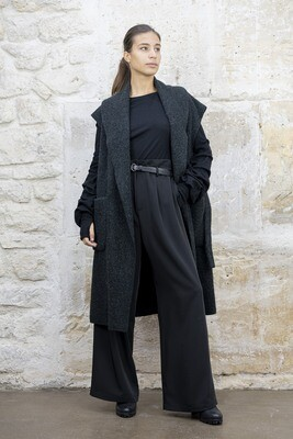 Sleeveless Oversized Felt Coat