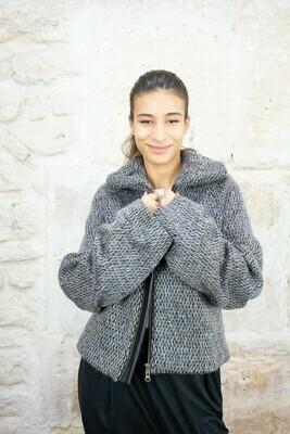 Puffed-sleeve Wool Jacket