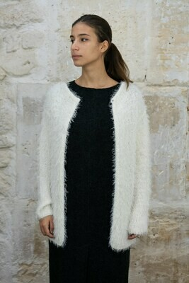 Furry Midi Cardigan
