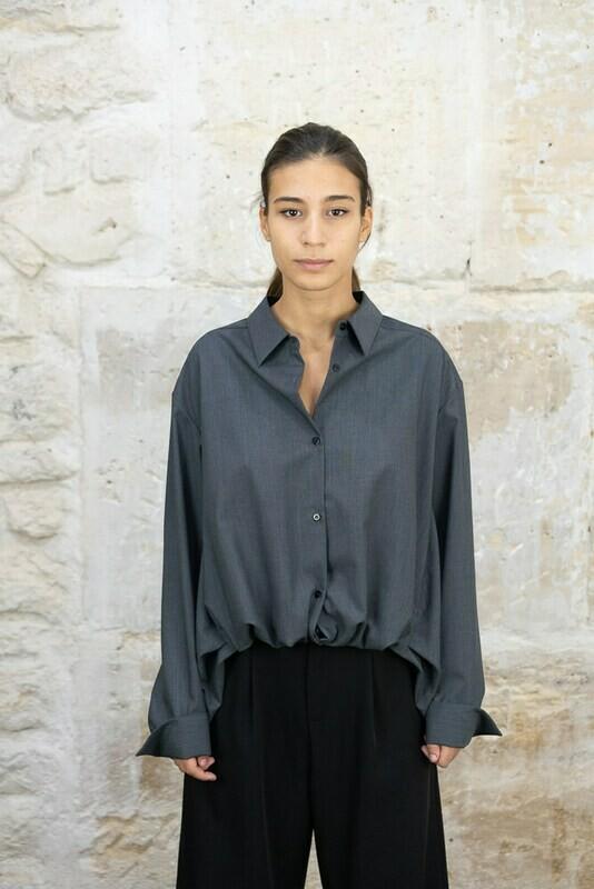 Asymetric Wool Shirt