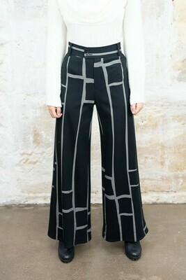 Jersey Wide-Leg Trousers