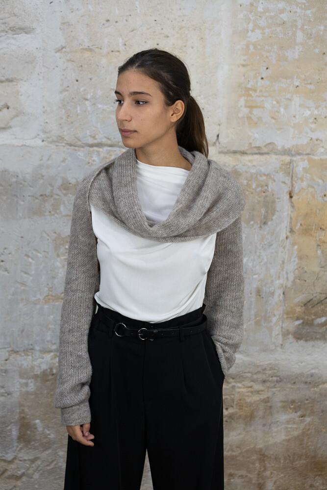 Wool-Blend Sweater Scarf