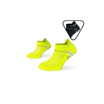 BV SPORT - PACK X2 - CALZE RUNNING ULTRACORTE LIGHT ONE GIALLO-NERO