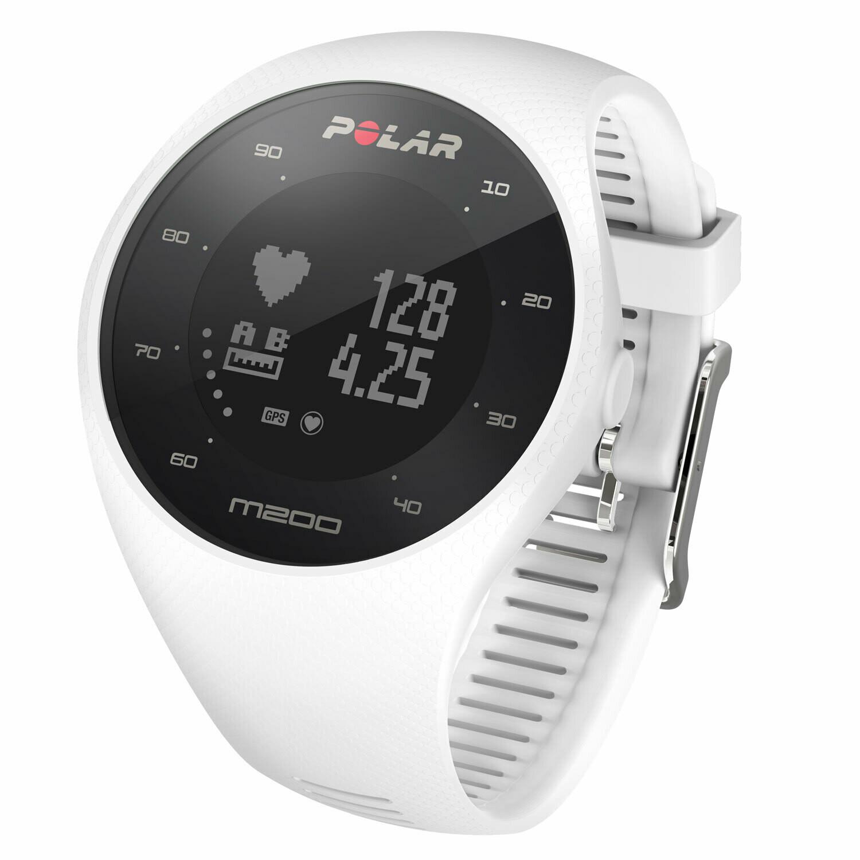 Cardiofrequenzimetro GPS Polar M200 bianco M/L