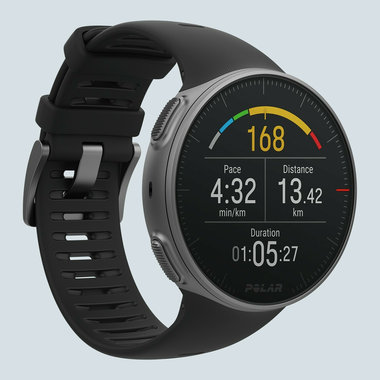 Cardiofrequenzimetro GPS Polar Vantage V nero rosso