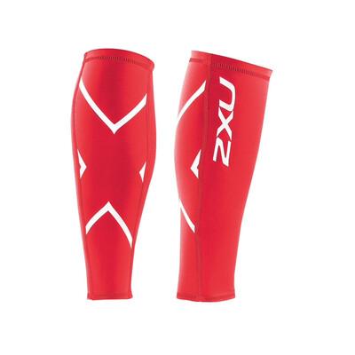 2XU compression calf guards red