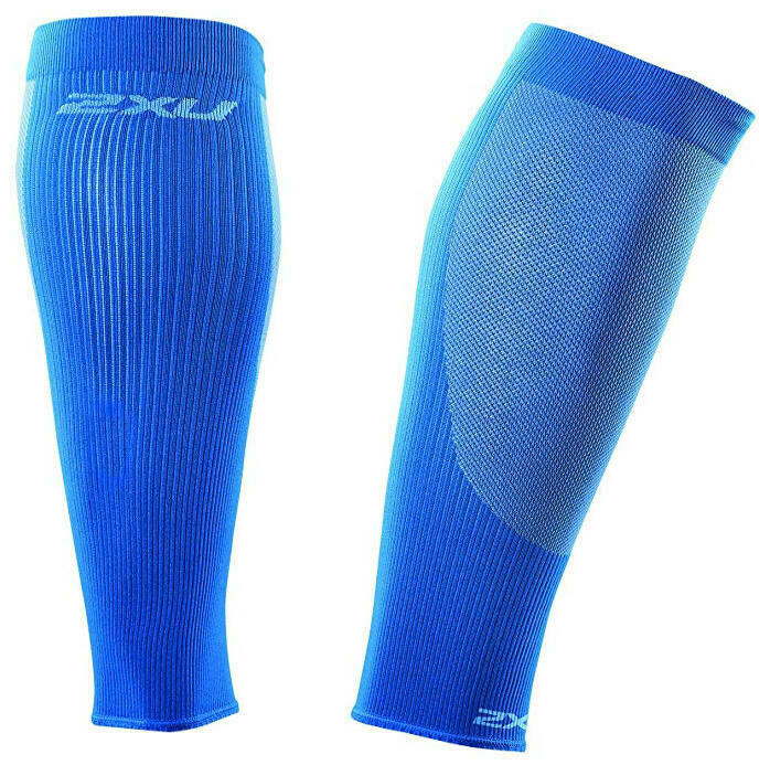 2XU compression performance run sleeves blu