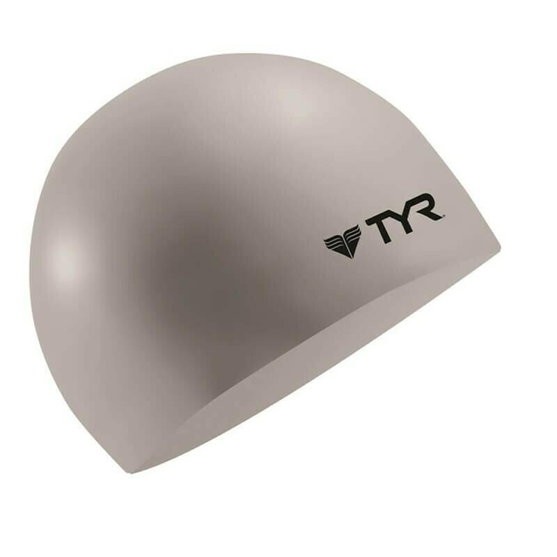 TYR - Wrinkle Free Silicone Swim Cap Silver