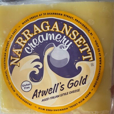 Atwell's Gold Cheese   Narragansett Creamery   8oz