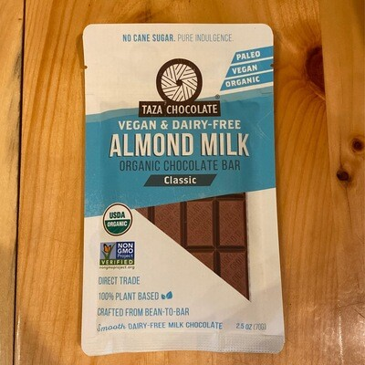 Taza Almond Milk Chocolate Bar
