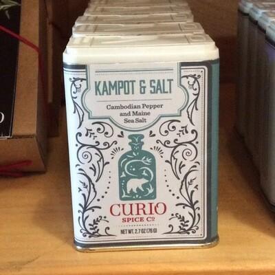 Curio Kampot & Salt - Cambodian Black Pepper & Maine Sea Salt