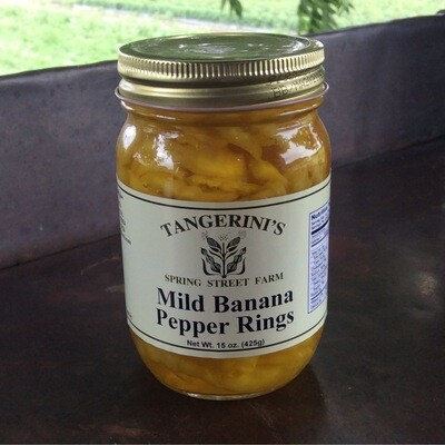 Mild Banana Pepper Rings | Tangerini's Own