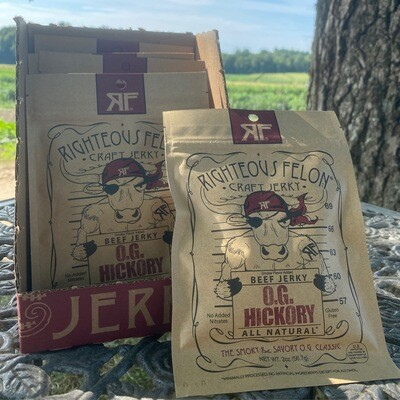 OG Hickory Craft Jerky | 2oz | Righteous Felon