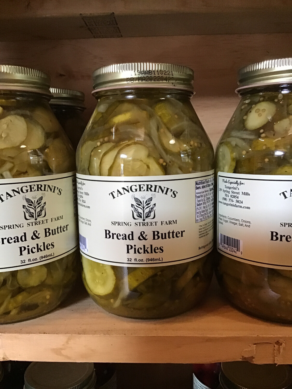 Bread and Butter Pickles | 32 oz | Tangerini's Own