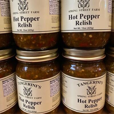 Hot Pepper Relish | Tangerini's Own