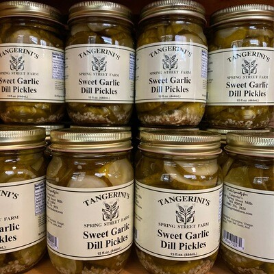 Sweet Garlic Dill Pickles | Tangerini's Own
