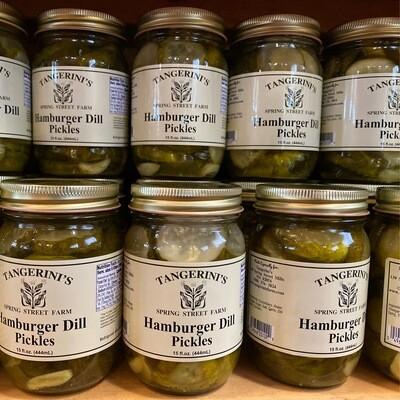 Hamburger Dill Pickles | Tangerini's Own