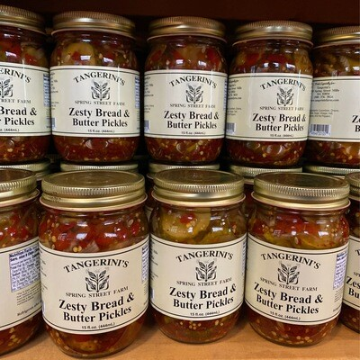 Zesty Bread & Butter Pickles   Tangerini's Own