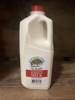 Whole Milk | 1/2 Gallon | Mapleline Dairy