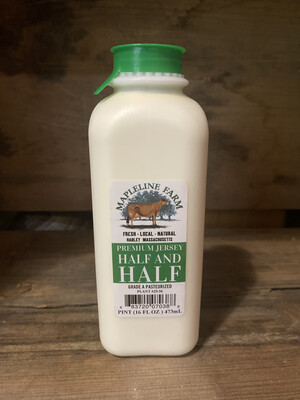 Half and Half | Pint | Mapleline Dairy