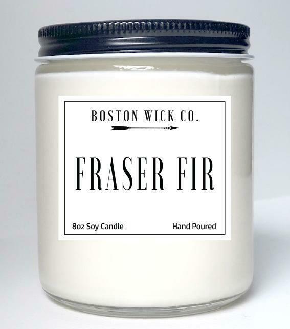 Boston Wick Co. Candles   Fraser Fir