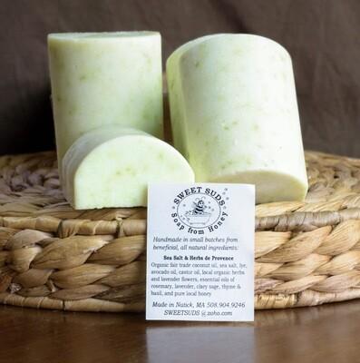 Sea Salt & Herbs de Provence Soap   Sweet Suds Soap
