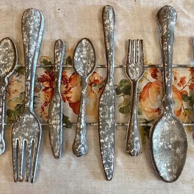 Fork Spoon Knife Wall Sign   Ganz