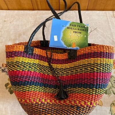 Medium Africa Fair Trade Bolga Basket   Item 3a