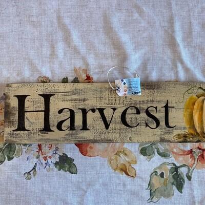 Harvest   Horizontal Wall Sign   Sandy Staiger Aiken Artist