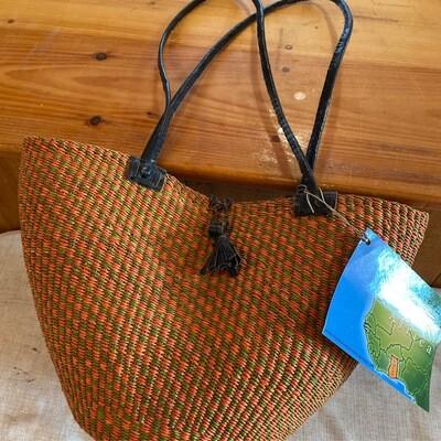 Medium Africa Fair Trade Bolga Basket   Item 2a