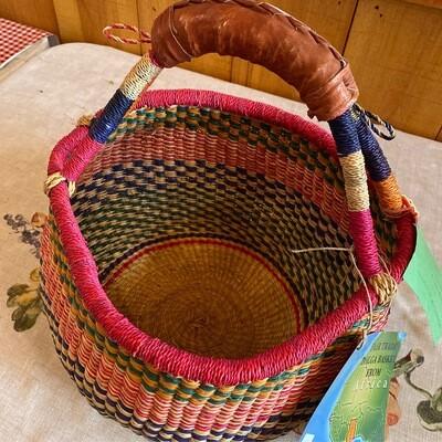 Medium Africa Fair Trade Bolga Basket   Item 6a