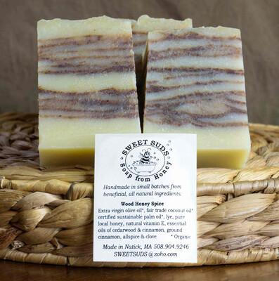 Wood honey soap