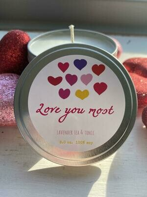 Love You Most   Lavender Tea Tonic   Crazed Mom Candle Co.