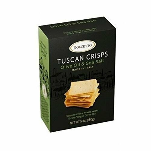 Tuscan Crisps | Olive Oil & Sea Salt | Dolcetto