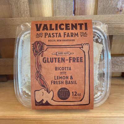 Gluten Free Ricotta w Lemon & Fresh Basil Ravioli   Valicenti