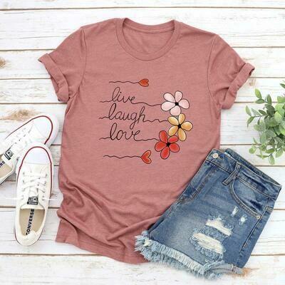 T-shirt Con Estampado De Flores