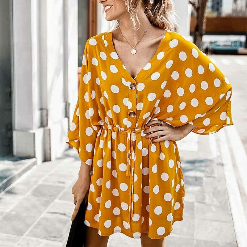 Vestido Corto Polka Dots