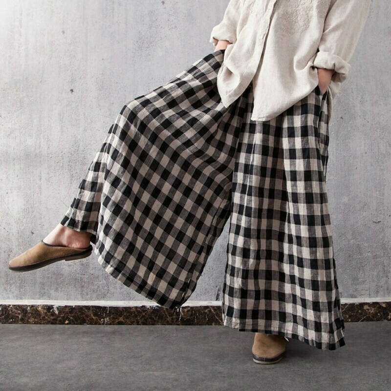 Pantalón Oversize a Cuadros