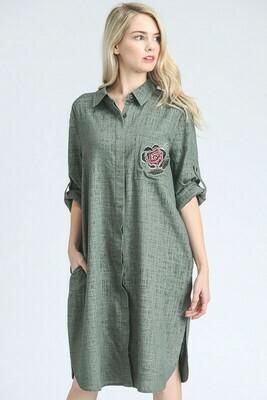 Vestido Camisero Verde Olivo