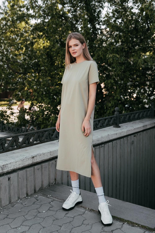 Платье-футболка. Размер 42-48