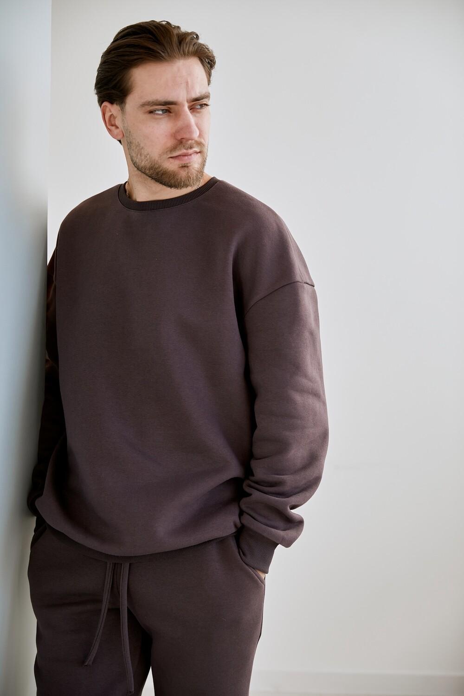 Утепленный мужской базовый костюм без капюшона. Размер 44-46. Рост 178-185 см.